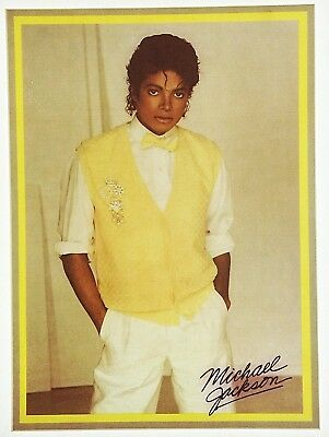 Vintage 80s Michael Jackson Yellow Sweater Iron-On Transfer