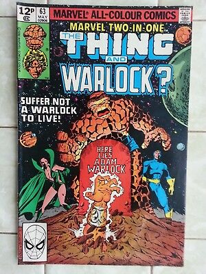 Marvel Two-in-One # 63 The Thing and Warlock ? SEE DESCRIPTION !