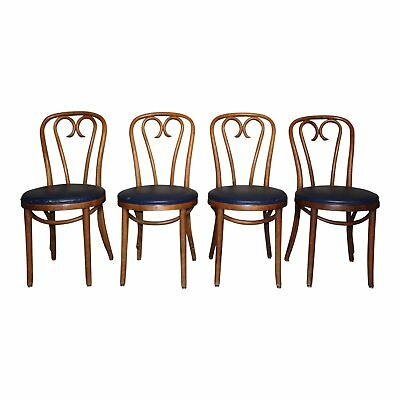 Vintage Set of 4 Thonet style Shelby Williams Bentwood Dining Cafe Chairs