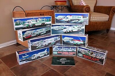 HESS_TOY TRUCK COLLECTION_(9)_NEW_ALL INSERTS_PERFECT_NEVER PLAYED or DISPLAYED