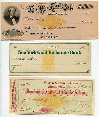 Lot of 15 Different Old Bank Checks with Revenue Stamped Paper! Take a L@@K!