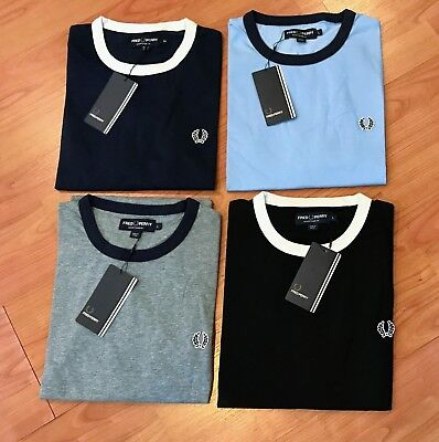 NWT Fred Perry Sportswear Ringer T Shirt M9614 Size: M, L, (in 4 colors)