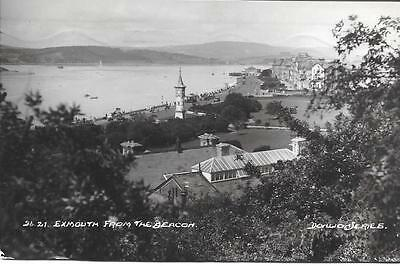 Exmouth from the Beacon-1930 Used RPPC (Pub:Donlion Series.)-Very Good Condit !