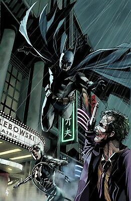 The Joker And Batman - Cartoon Dc Comics Superhero Characters Canvas Pictures