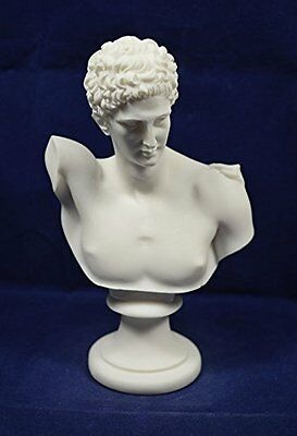 Hermes alabaster bust ancient Greek God conductor of souls into the afterlife