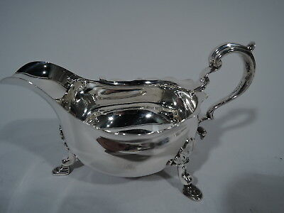 George V Gravy Boat - Antique Georgian Sauce - English Sterling Silver - 1913