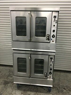 Double Stack Gas Convection Oven Montague 115A #7874 Commercial Bakery Ovens
