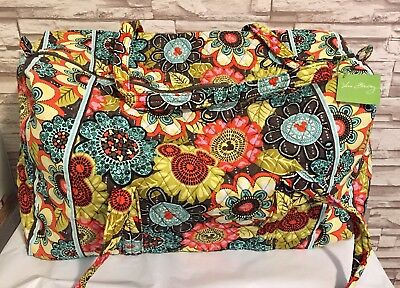 Vera Bradley Large Duffel Bag Mickey Perfect Petals