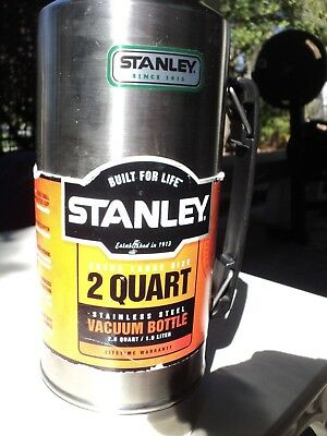 New Stanley Chrome 2 Quart Thermos- Vacuum Sealed