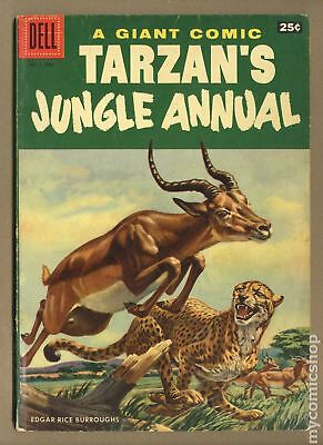 Dell Giant Tarzan's Jungle Annual #5B 1956 Painted Back Cover Art Variant GD 2.0