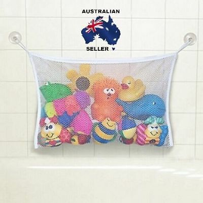 Cute Baby Bath Time Toy Tidy Storage Suction Cup Bag Mesh Bathroom Organiser Net