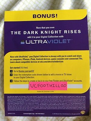 The Dark Knight Rises Blu-ray Digital Code ONLY - Download Only