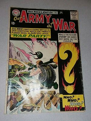 Our Army At War # 151 sgt rock 1st appearance Enemy Ace silver age lot run movie