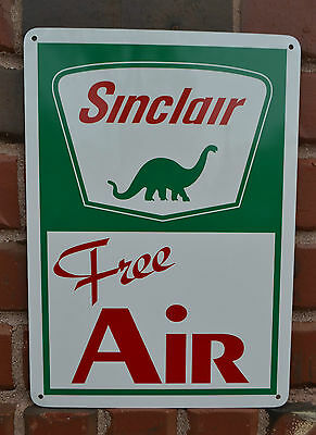 Sinclair Free Air Pump Sign Gas Service Dino Garage Mechanic Shop Advertising 10