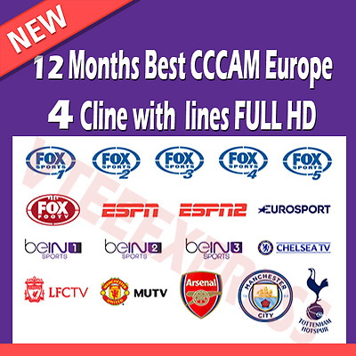 CCCAM 12 MONTHS Premium Lines 4K, Zgemma, Dreambox, Europe