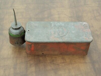 Vintage Ih International Harvester Tractor Tool Box With Oiler