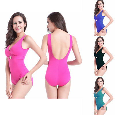 Sexy Women Plus Size One Piece Monokini Swimwear Push Up Padded Bikini Swimsuit