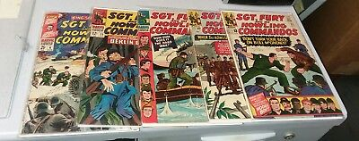 sgt fury and his howling commandos 5 issue silver age comics lot run set movie
