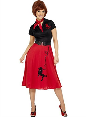 50s Style Poodle Costume, Red, with Dress, Scarf and Bel (UK IMPORT)  COST-W NEW