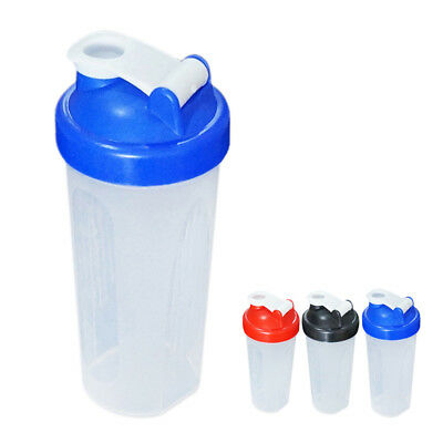 Transparent Blender Bottle Shaker Cup Shake Protein Weight Gainer 600ml Drink L
