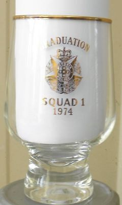 Obsolete Victoria Police Graduation Commemorative  Glass.