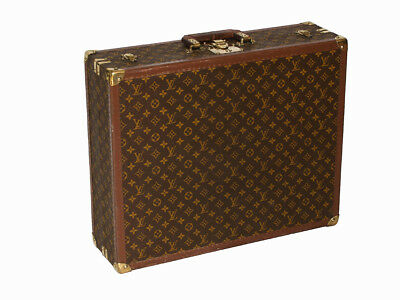 Louis Vuitton monogram suitcase trunk open by center, square handle. 25% off !