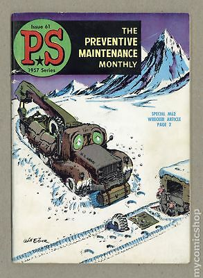 PS The Preventive Maintenance Monthly #61 1958 VG 4.0