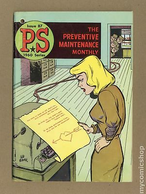 PS The Preventive Maintenance Monthly #87 1960 VG+ 4.5