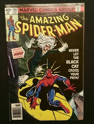 The Amazing Spider-Man #194 (Jul 1979, Marvel) Newstand Very Fine 1st Black Cat