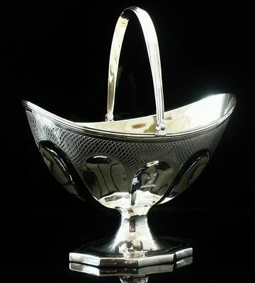 Antique Silver Sugar Basket, London 1798, Solomon Hougham