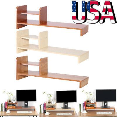 Desktop Monitor Riser TV Stand Desk Organizer Storage Shelf For Computer Laptop