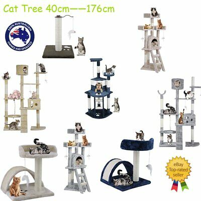 Cat Tree Scratching Post Scratcher Pole Gym Toy House Furniture Multilevel R6