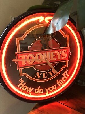 TOOHEYS NEW Collectable Red Neon Wall Clock