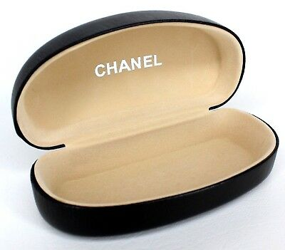 Chanel Glasses Clamshell Case Extra Large Black Eyeglasses Rx Sunglasses Snap