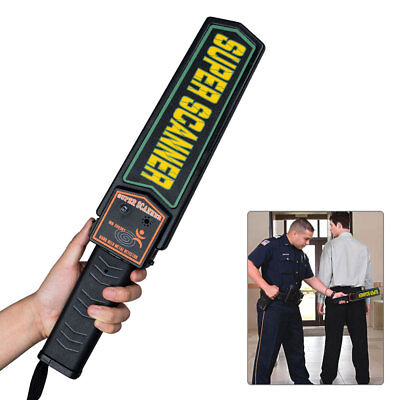 Portable Hand-held Metal Security Detector Super Scanner Wand Airport Scanner UK