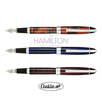 CONKLIN VICTORY FOUNTAIN PEN - Choice of 3 Elegant Finishes