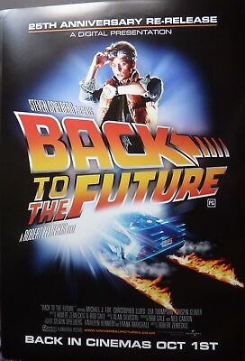 Back To The Future Original 2010 One Sheet  Poster  Michael J Fox Delorian