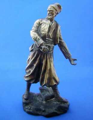 ANTIQUE ' RUSSIAN COSSACK ' BRONZE FIGURE - Georges Omerth 1895 - 1925 - France.