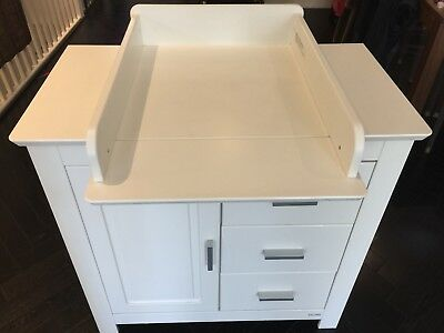 John Lewis White Nursery Cupboard/ Changing Unit