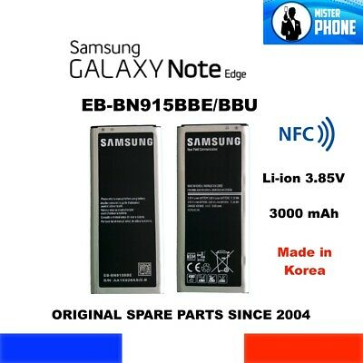 GENUINE BATTERY SAMSUNG GALAXY NOTE EDGE EB-BN915BBE NFC SM-N915 SERIE 3000mAh