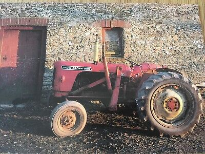 David Brown 990 Tractor Post Card