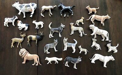 Large Schleich animal lot Great condition! Tigers, wolf, cows, horses and more!