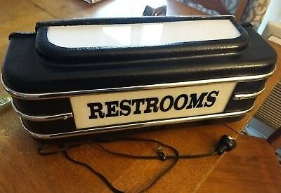 Art deco Restrooms lighted sign 18""