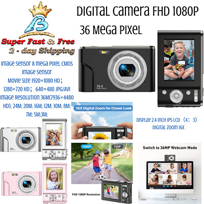 Mini Digital Camera Small 18 Mp 8x Digital Zoom HD Digital Camera Photography