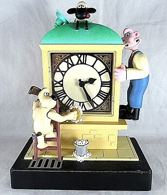 Wallace Gromit Animated Alarm Clock Aardman BBC Works Light Sheep Music Analog