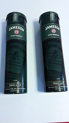 2 Jameson Irish Whiskey Tin Canisters for 750ml bottles VGC Free Shipping!