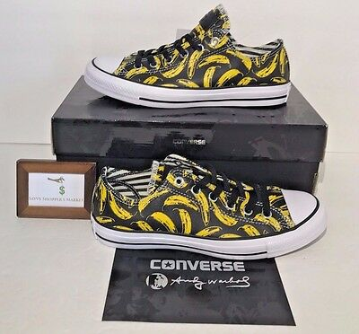 208c775af19b Converse Womens Size 6 Chuck Taylor All Star Andy Warhol Ox Banana Low  Leather