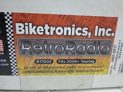 Biketronics Retro Radio CD Radio Adapter Kit for Harley 98-13 FLH FLT