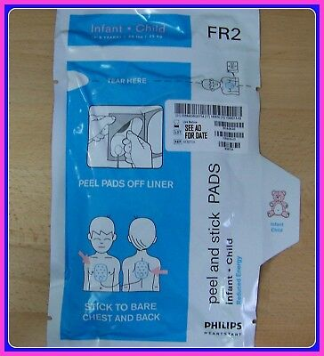 Philips FR2 AED NEW IN Date Infant Child Pads 2019  M3870A Pediatric <55 lbs