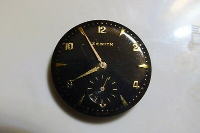 VINTAGE zenith wrist watch movement  werk voll funktion